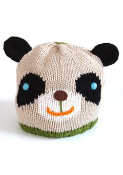 knitted panda hat