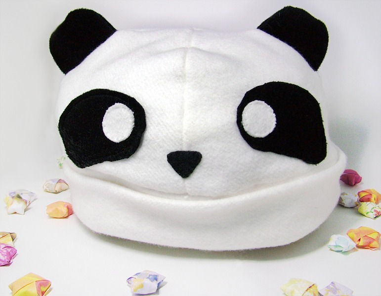 fleece panda hat
