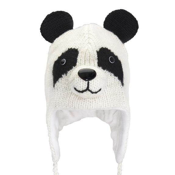 Knitting Pattern For Panda Hat : Knitted Panda Hat The Panda Hat site
