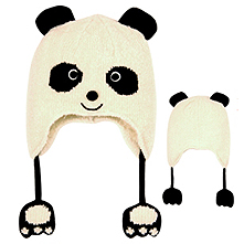 panda hat with flaps