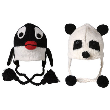 panda and penguin hat
