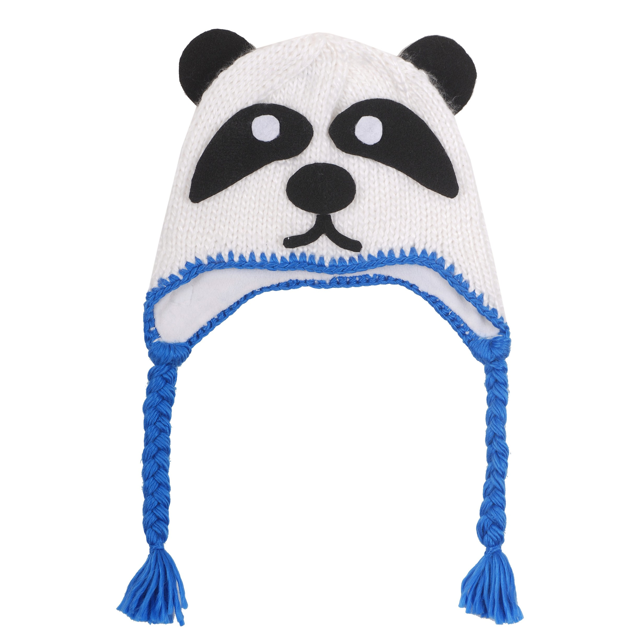 panda hat with ear flaps
