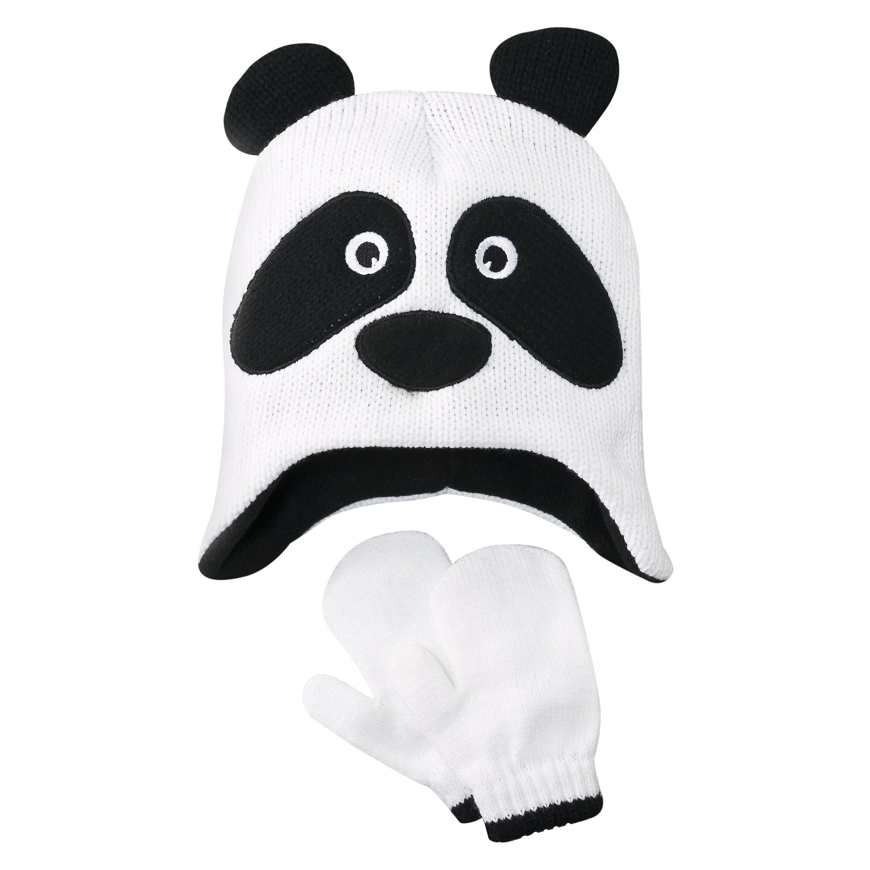 panda hat with gloves